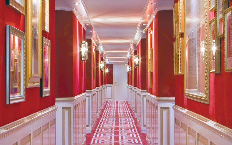 Uniworld's partnership with Red Carnation Hotels is evident in the attractive passenger corridors. Photo courtesy of Uniworld Boutique River Cruises