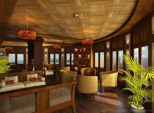 The forward-facing Lounge aboard La Marguerite. Photo courtesy of AmaWaterways
