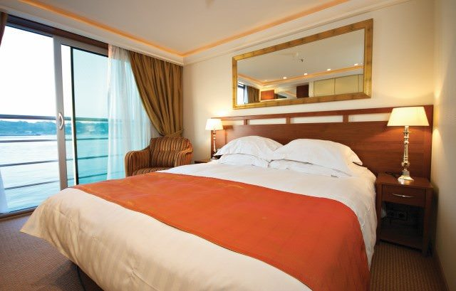 Nearly all staterooms aboard AmaCello feature French Balconies. Photo courtesy of AmaWaterways.
