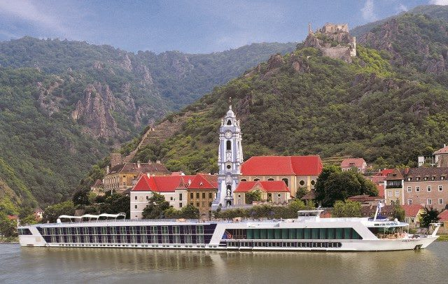 AmaWaterways' AmaDagio along the Danube. Photo courtesy of AmaWaterways.