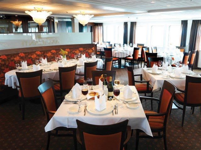 Dining on AmaDante is relaxed and intimate. Photo courtesy of AmaWaterways.