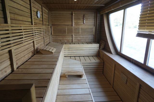 Sauna on A-ROSA Stella. @ 2013 Ralph Grizzle