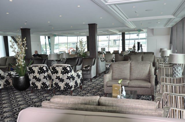 The Panorama Lounge aboard AmaBella. Photo courtesy of AmaWaterways.