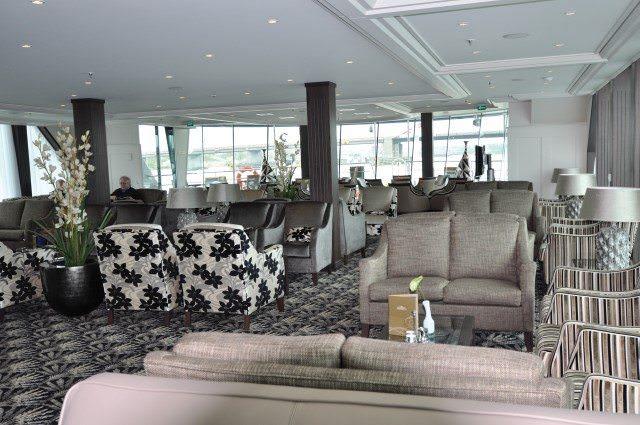 The Panorama Lounge aboard AmaBella. Photo courtesy of AmaWaterways.