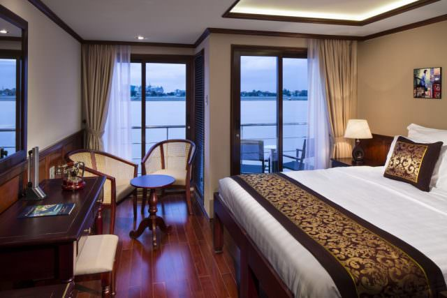 All staterooms aboard AmaDara feature both French and full step-out balconies. Photo courtesy of AmaWaterways.