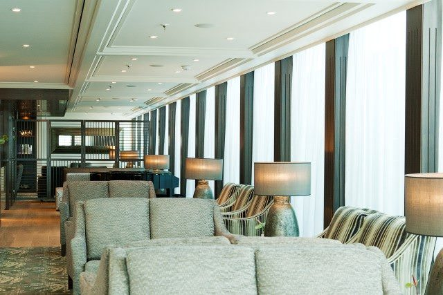 The Panoramic Lounge aboard AmaVerde. Photo courtesy of AmaWaterways.