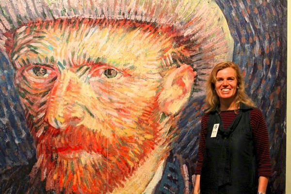 At The Vincent Van Gogh Museum In Amsterdam
