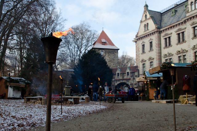 The 'Romantic Christmas Market' at Schloss Emmeram in Regensburg, Germany. Photo © 2012 Aaron Saunders