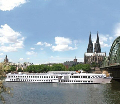 River Ambassador on the Rhine River in Cologne, Germany.