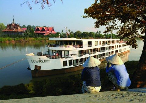 AmaWaterways' La Marguerite helped the line pioneer cruises along the Mekong. Photo courtesy of AmaWaterways