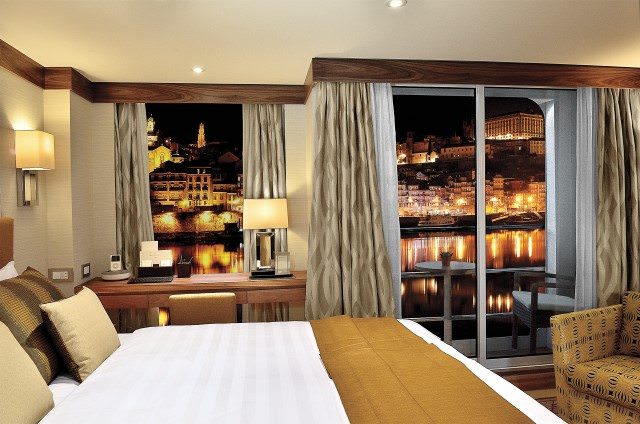 Staterooms aboard AmaVida feature small step-out balconies. Photo courtesy of AmaWaterways.