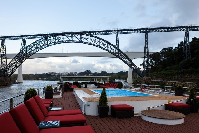 Kick back and relax on the Sun Deck, or go for a dip in the pool aboard the AmaVida. Photo courtesy of AmaWaterways.
