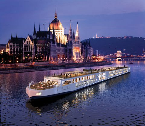 A rendering of Viking Odin in Budapest, Hungary. Image courtesy of Viking River Cruises