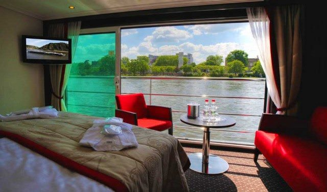 How Suite It Is: Avalon's suite ships turn the room into an Open-Air Balcony. Photo courtesy of Avalon Waterways