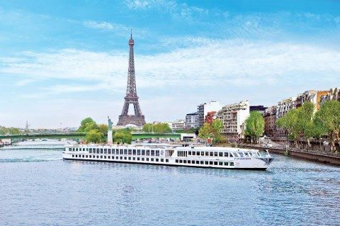 Uniworld's River Baroness sails to the glittering city of Paris, France. Photo courtesy of Uniworld Boutique River Cruises