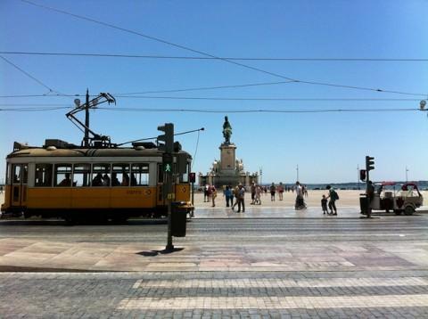 Exploring sunny Lisbon, Portugal. Photo © 2012 Peter Saunders