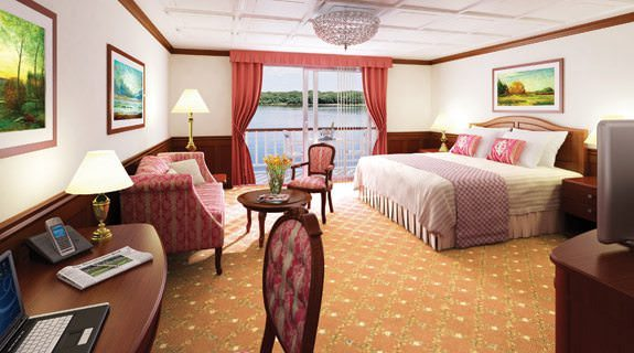 Staterooms aboard Queen of the Mississippi average 300 square feet. Photo courtesy of American Cruise Lines.