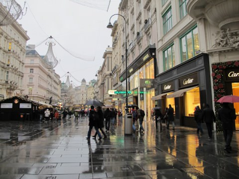 Cafes in Vienna literally line nearly every street. Photo © Aaron Saunders