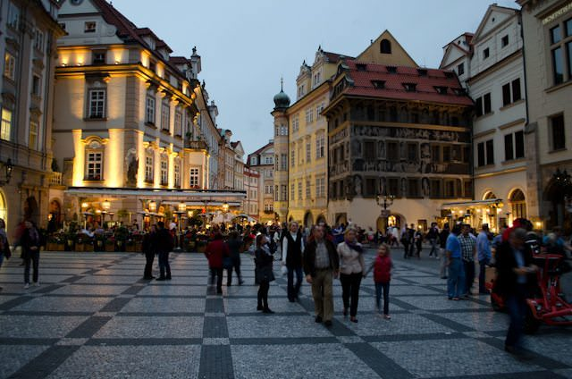 Prague at night is a magical experience. It's easy to imagine the year is 1618...the date of the Defenestration of Prague. Photo © 2012 Aaron Saunders