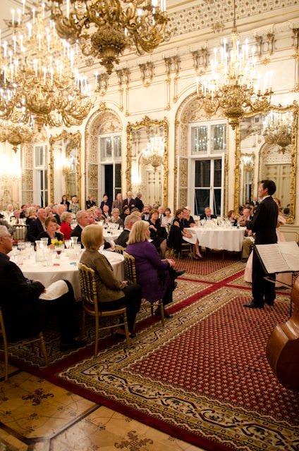 Tauck sets themselves apart by offering river cruise tours that are both inclusive and exclusive, like this palatial evening concert in Vienna, Austria.