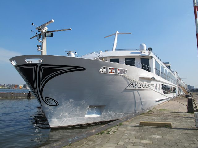Uniworld's S.S Antoinette, shown here in Amsterdam, will be getting a sister in 2014. Photo © 2012 Aaron Saunders