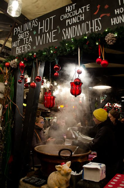 Steam rises over hot goulash at the Budapest Christmas Market. Photo © Aaron Saunders