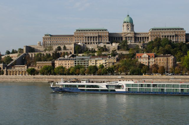 Avalon now has a fleet of 13 river cruise ships in Europe - like Avalon Vista, shown here in Budapest - and counting. Photo © 2012 Aaron Saunders