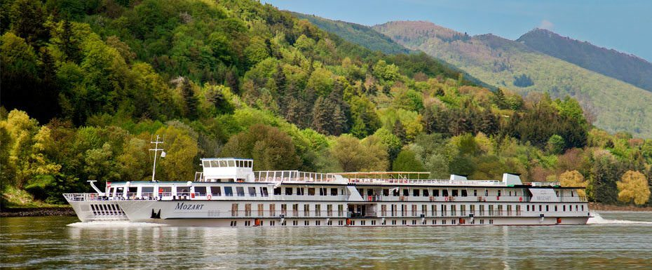 German-based Peter Deilmann Reederei returns to river cruising in 2013 with their 1987-built Mozart. Photo courtesy of Dertour.