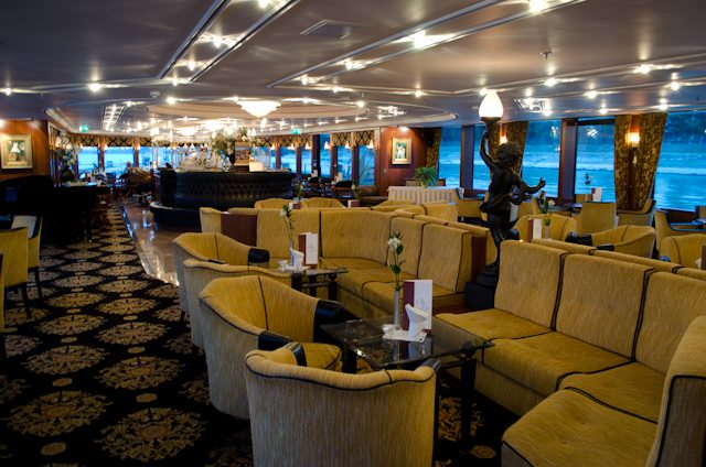 The interiors aboard Tauck's river cruise ships reflect a soothing, old-world elegance. Photo © 2012 Aaron Saunders