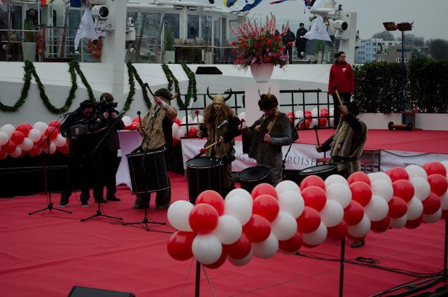 Vikings serenade the crowd outside before celebrations get under way! Photo © 2013 Aaron Saunders
