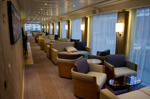 Compare As We Dare: to see the dedication the team at Viking put into these Longships, compare this photo of the Lounge aboard the new Viking Bragi with the one below from Viking Aegir. Notice any differences? There's plenty! Photo © 2013 Aaron Saunders