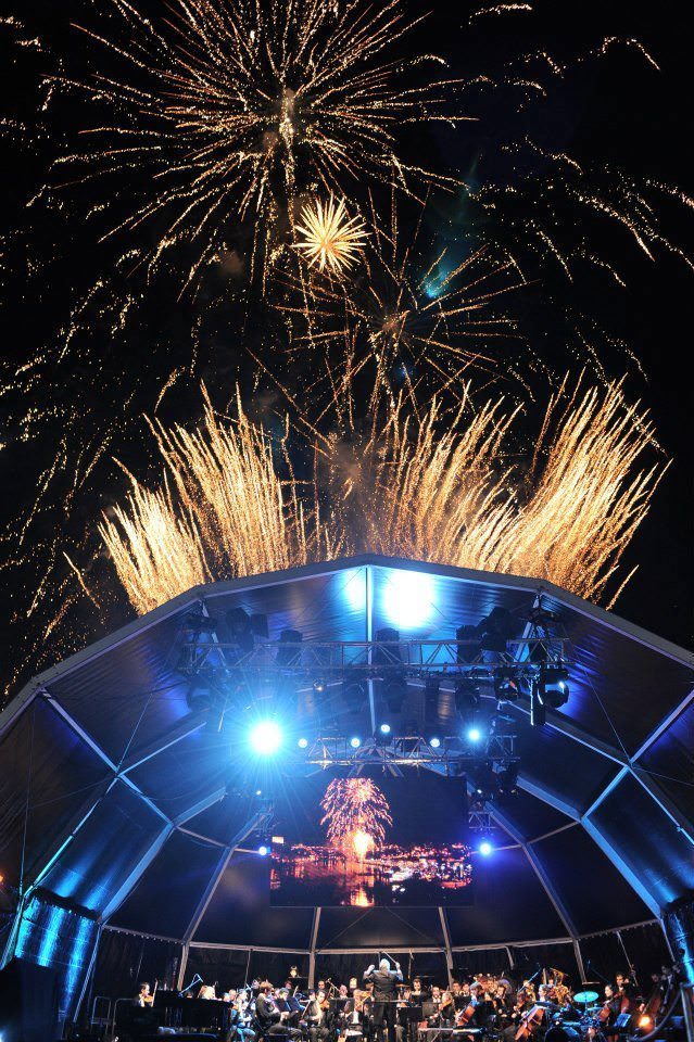 Fireworks capped off the festivities in Portgual. Photo courtesy of Uniworld Boutique River Cruises