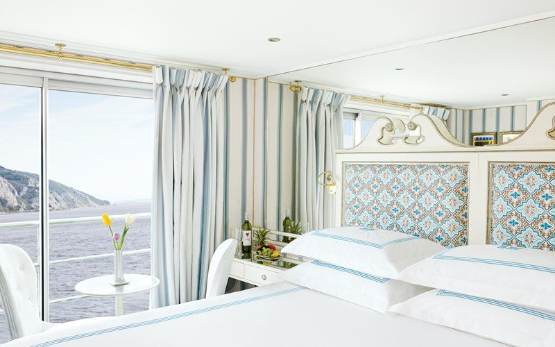 One of the Category 1 Staterooms River Countess. Photo courtesy of Uniworld Boutique River Cruises.