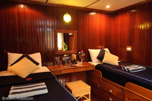 Staterooms boast a nautical ambiance that is both warm and inviting. Photo courtesy of Pandaw.