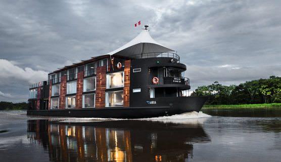 Explore the Amazon in futuristic style aboard the MV Aria. Photo courtesy of Aqua Expeditions
