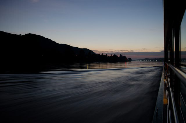 No matter what side you're on, the views along Europe's waterways are always spectacular. Photo © 2012 Aaron Saunders