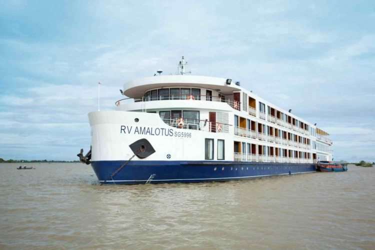 The stunning new AmaLotus sails AmaWaterways' Riches of the Mekong itinerary. Photo courtesy of AmaWaterways
