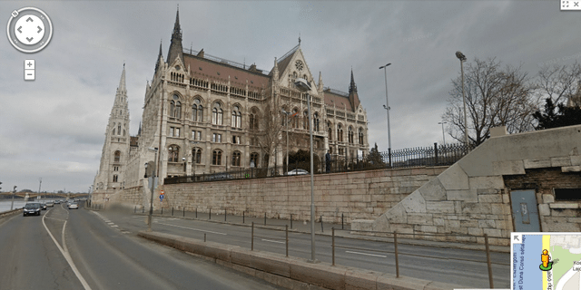 The Hungarian Parliament, as seen on Google Street View. An invaluable resource!