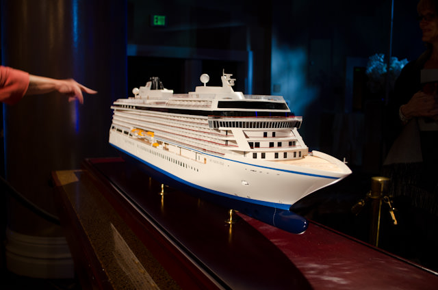 Viking Star, in the flesh. This builder's model gave us a great impression of this 928-guest ship. Photo © 2013 Aaron Saunders