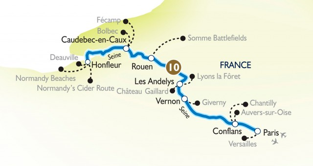 Scenic's Gems of France itinerary will debut in July 2014. Illustration courtesy of Scenic Tours.