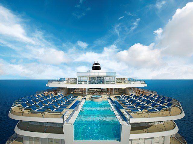 Viking Star will feature the industry's first Infinity Pool. Rendering courtesy of Viking Cruises