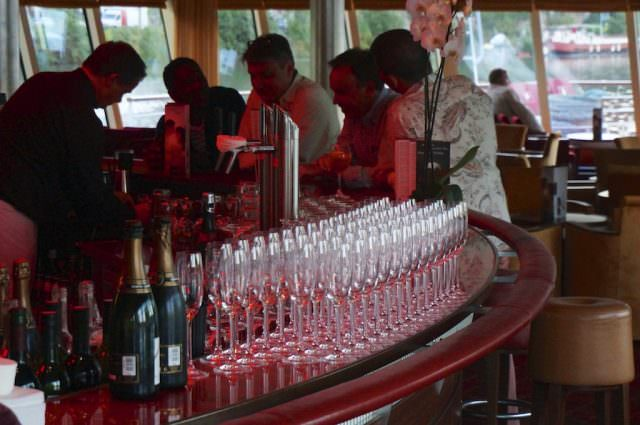 With drinks included, the bar is a social hub on A-ROSA Stella. @ 2013 Ralph Grizzle