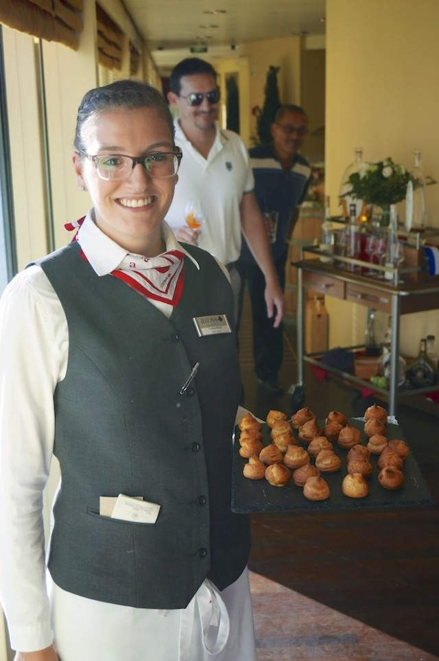 Friendly staff say they enjoy having North Americans on board. @ 2013 Ralph Grizzle