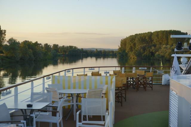 Cruising the Saône river on Monday night in southern France on A-ROSA Stella. @ 2013 Ralph Grizzle