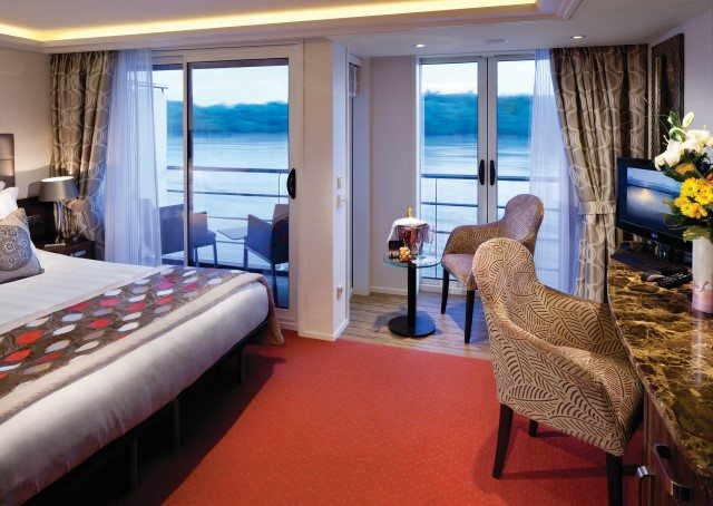 Category BA Staterooms aboard AmaSonata feature both French and full step-out balconies. Photo courtesy of AmaWaterways.
