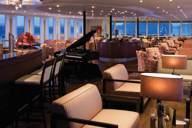 The striking Lounge aboard AmaReina. Photo courtesy of AmaWaterways