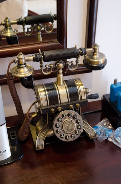 Classically-styled telephone in my stateroom. Nice touch! Photo © 2013 Aaron Saunders