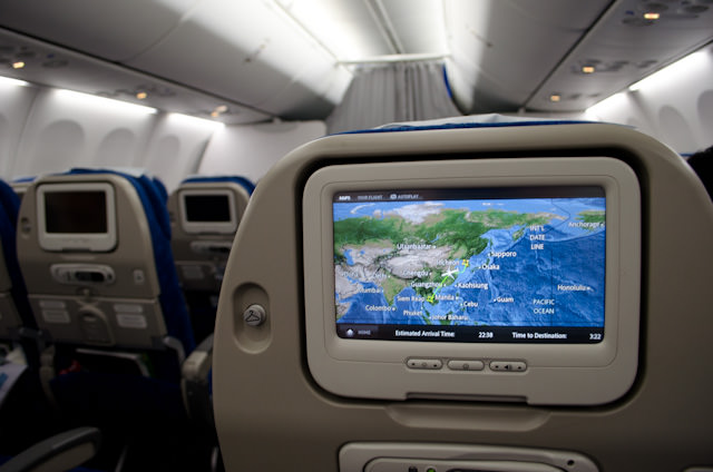 Onboard a Korean Air 737-800, bound from Seoul to Siem Reap, Cambodia! Photo © 2013 Aaron Saunders