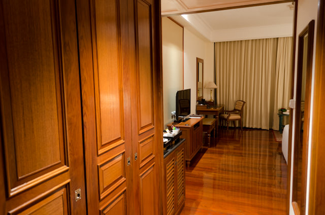 Welcome Home! At least, for a night: my room at the Sofitel Angkor in Siem Reap. Photo © 2013 Aaron Saunders
