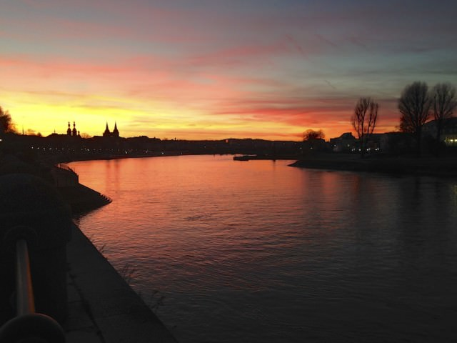 Sunset on Koblenz. © 2013 Ralph Grizzle